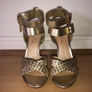 Marc Fisher - Cari -  High Heel Sandals - Gold - 7
